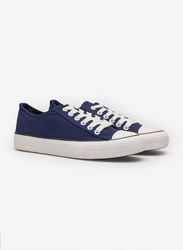 Springfield Lace-Up Canvas Sneakers, 38 EU, Light Blue