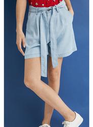 Springfield Denim Bermuda Shorts for Women, 42 EU, Medium Blue