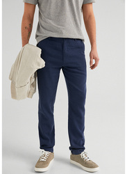 Springfield Sport Trousers Chinos for Men, 48 EU, Navy Blue