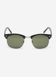 Springfield Full Rim Clubmaster Black Sunglasses for Men, Grey Lens