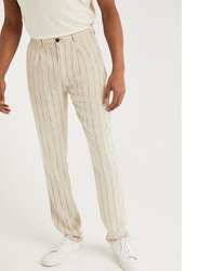 Springfield Strips Pattern Sport Trousers Chinos for Men, 42 EU, Ivory