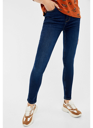 Springfield Denim Basic Jeans for Women, 38 EU, Medium Blue