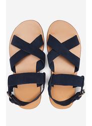 Springfield Back Strap Buckle Closure Sandals, 40 EU, Medium Blue