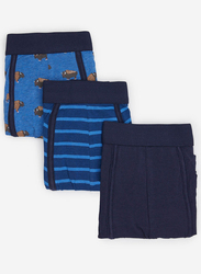 Springfield 3-Piece Printed & Striped Underwear Set for Men, Multicolor, Extra Large