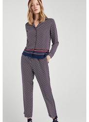 Springfield Long Sleeve Plain Blouse for Women, 38 EU, Light Blue