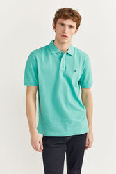 Springfield Short Sleeve Basic Polo Shirt for Men, Extra Small, Turquoise
