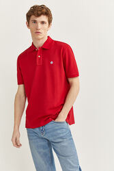 Springfield Short Sleeve Basic Polo Shirt for Men, Extra Small, Red