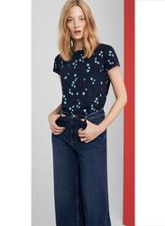 Springfield Short Sleeve T-Shirt for Women, Small, Light Blue