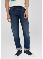 Springfield Denim Jeans for Men, 34 EU, Dark Blue