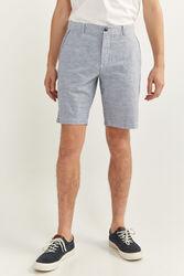 Springfield Striped Bermuda Shorts for Men, 40 EU, Medium Blue