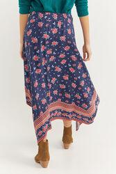 Springfield Border Details Printed Peaked Skirt, Medium, Navy Blue