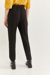 Springfield Elasticated Waist Jogger Trousers for Women, 36 EU, Black