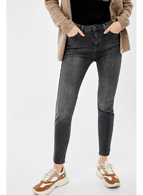 Springfield Fancy Denim Jeans for Women, 42 EU, Dark Grey