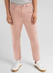 Springfield 5 Pockets Cotton Sport Trousers for Men, 40 EU, Pink