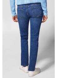 Springfield Denim Basic Jeans for Women, 42 EU, Medium Blue