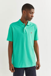 Springfield Short Sleeve Basic Polo Shirt for Men, Extra Small, Green