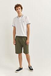 Springfield Towelling Bermuda Shorts for Men, Medium, Green