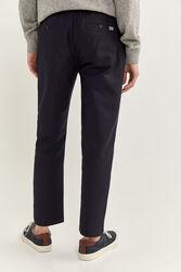 Springfield Super Comfort Knit Chinos for Men, 44 EU, Navy Blue