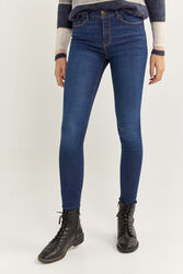 Springfield Body Trousers for Women, 44 EU, Medium Blue