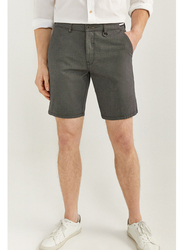 Springfield Zip Fly Button Fastening Bermuda Shorts for Men, 42 EU, Light Grey