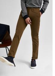 Springfield Back Zip Pocket Chinos for Men, 38 EU, Khaki