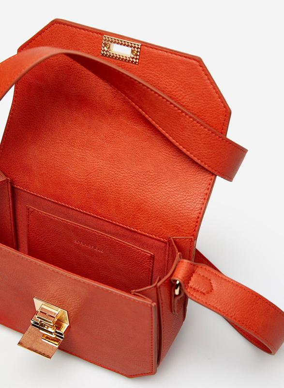 Springfield Twist Lock Closure Crossbody Bag for Women, Brown