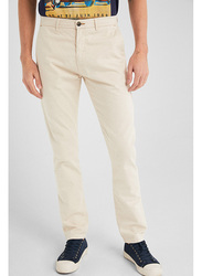 Springfield Sport Trousers Chinos for Men, 48 EU, Ivory