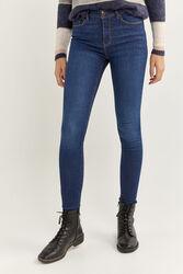 Springfield Body Trousers for Women, 38 EU, Medium Blue