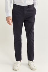 Springfield Slim Fit Chinos for Men, 38 EU, Navy Blue