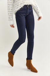 Springfield Indigo Denim Jeans for Women, 34 EU, Navy Blue