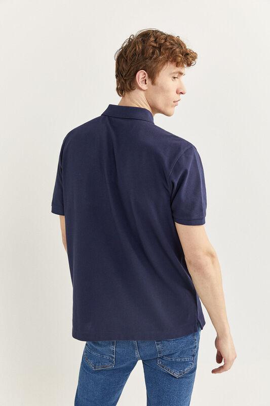 Springfield Short Sleeve Basic Polo Shirt for Men, Extra Small, Navy Blue