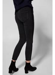 Springfield Fancy Denim Jeans for Women, 38 EU, Black