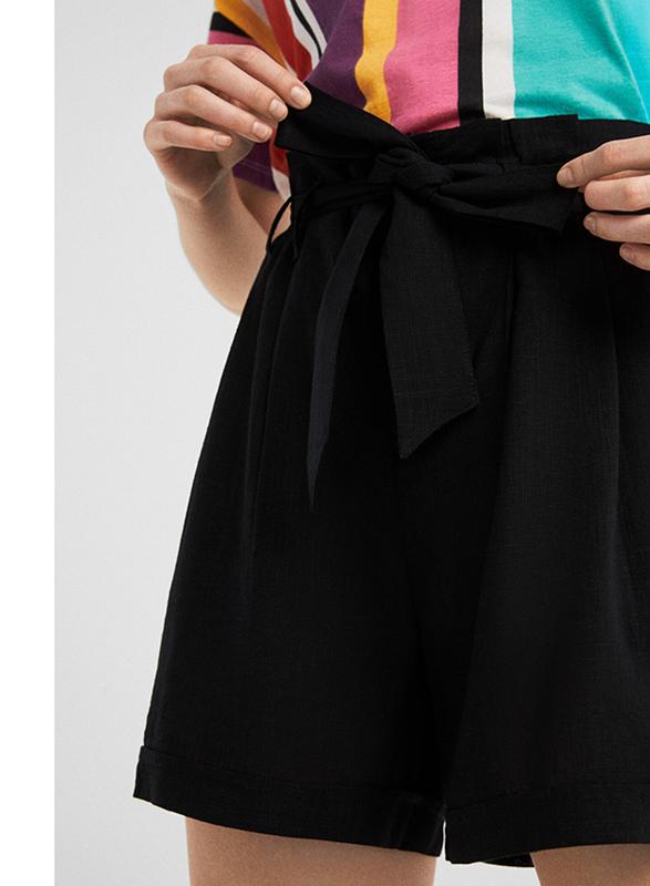 Springfield Fancy Bermuda Shorts for Women, 38 EU, Black