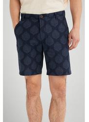 Springfield Leaf Print Bermuda Shorts for Men, 40 EU, Medium Blue