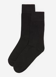 Springfield Mid Crew Socks for Men, Black, Large