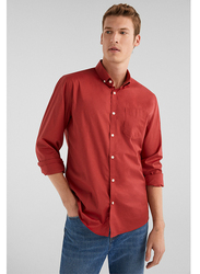 Springfield Long Sleeve Plain Shirt for Men, Small, Coral