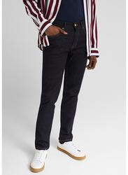 Springfield 4-Pockets Denim Jeans for Men, 40 EU, Navy Blue