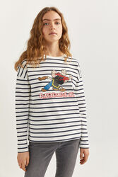 Springfield Long Sleeve Popeye & Olive Sweatshirt for Women, Extra Large, Blue