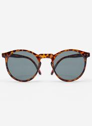 Springfield Full Rim Oval Havana Brown Sunglasses for Men, Grey Lens