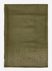Springfield Printed Scarf for Women, Extra Small, Olive