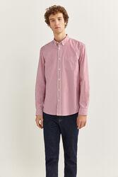 Springfield Long Sleeve Striped Shirt for Men, Medium, Red