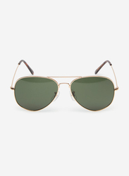 Springfield Full Rim Aviator Gold Sunglasses for Men, Dark Grey Lens