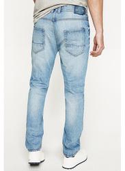 Springfield Denim Jeans for Men, 30 EU, Medium Blue