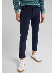 Springfield 5 Pockets Cotton Sport Trousers for Men, 28 EU, Medium Blue