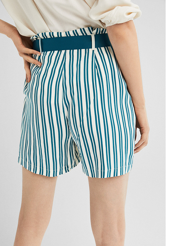 Springfield Fancy Bermuda Shorts for Women, 38 EU, Green