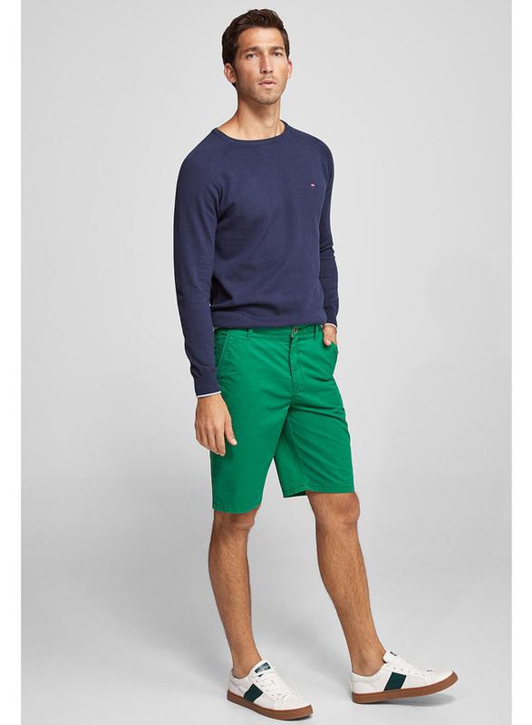 Springfield Basic Bermuda Shorts for Men, 42 EU, Green