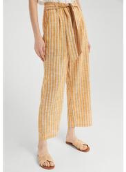 Springfield Cotton Fancy Pant for Women, 36 EU, Yellow