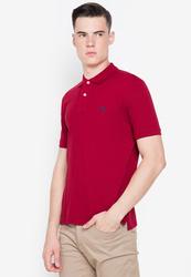 Springfield Short Sleeve Basic Polo Shirt for Men, Extra Small, Maroon