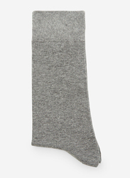 Springfield Mid Crew Socks for Men, Dark Grey, Large