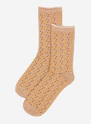 Springfield Printed Low Cut Socks for Women, Khaki, 39 EU